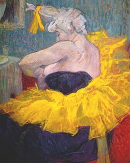 Show action lautrec the clownesse cha u kao at the moulin rouge ii 1895