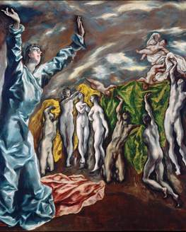 Show action el greco  the vision of saint john  1608 1614  min