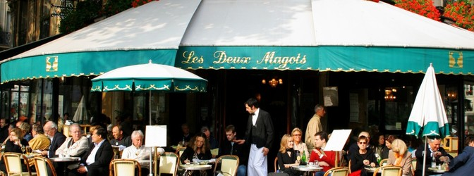 Teaser caf paris france les deux magots street sidewalk tables restaurant 922562