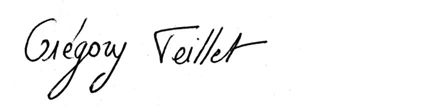 Signature gregory
