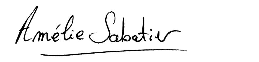 Signature amelie